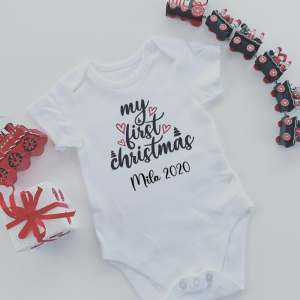 Personalised My First Christmas Onesie